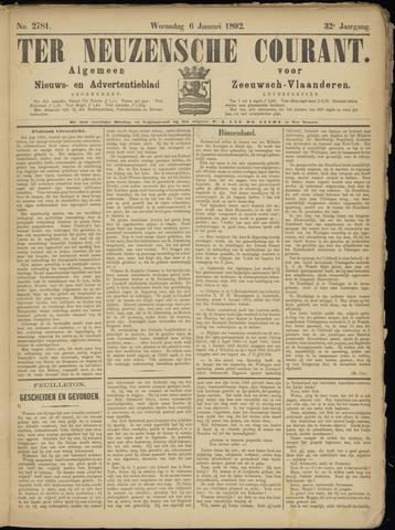 Ter Neuzensche Courant. Algemeen Nieuws- en Advertentieblad voor Zeeuwsch-Vlaanderen / Neuzensche Courant ... (idem) / (Algemeen) nieuws en advertentieblad voor Zeeuwsch-Vlaanderen 1892-01-06