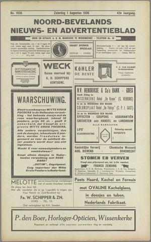 Noord-Bevelands Nieuws- en advertentieblad 1936-08-01