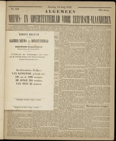 Ter Neuzensche Courant. Algemeen Nieuws- en Advertentieblad voor Zeeuwsch-Vlaanderen / Neuzensche Courant ... (idem) / (Algemeen) nieuws en advertentieblad voor Zeeuwsch-Vlaanderen 1873-06-12