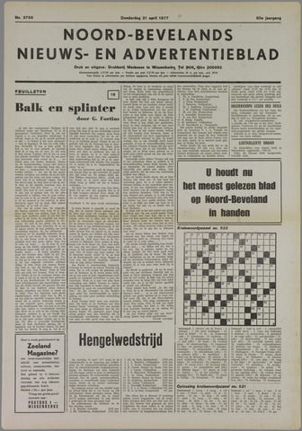 Noord-Bevelands Nieuws- en advertentieblad 1977-04-21