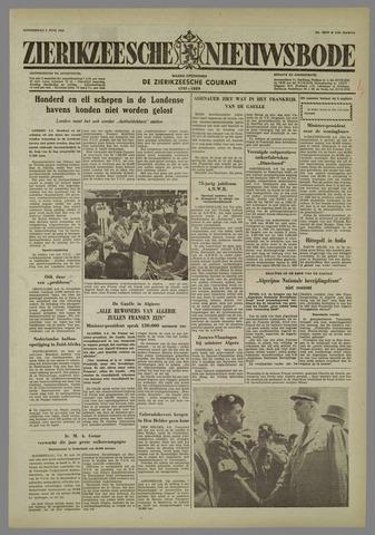 Zierikzeesche Nieuwsbode 1958-06-05