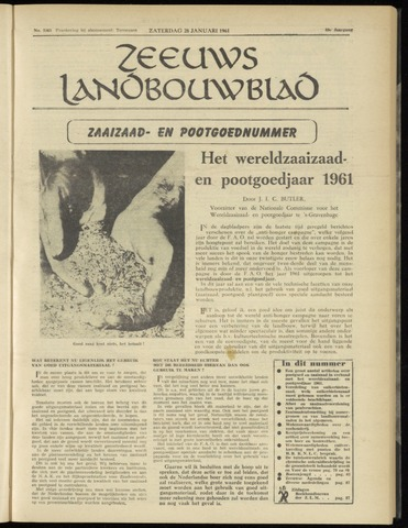 Zeeuwsch landbouwblad ... ZLM land- en tuinbouwblad 1961-01-28