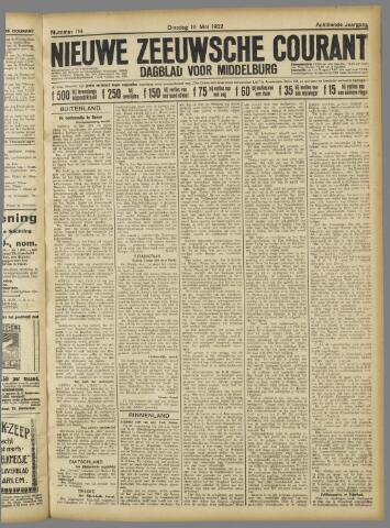 Nieuwe Zeeuwsche Courant 1922-05-16