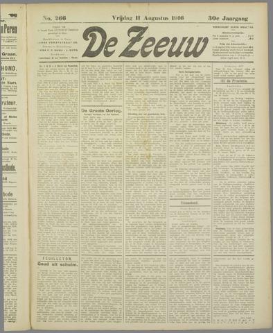 De Zeeuw. Christelijk-historisch nieuwsblad voor Zeeland 1916-08-11