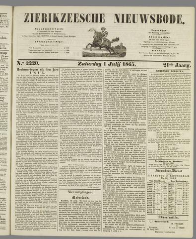 Zierikzeesche Nieuwsbode 1865-07-01