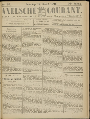 Axelsche Courant 1921-03-12
