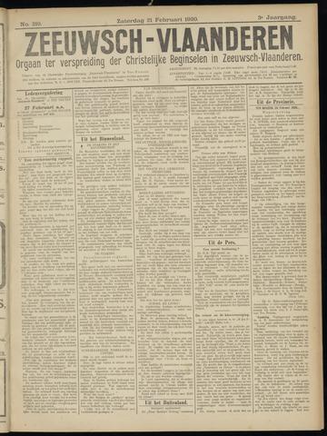 Luctor et Emergo. Antirevolutionair nieuws- en advertentieblad voor Zeeland / Zeeuwsch-Vlaanderen. Orgaan ter verspreiding van de christelijke beginselen in Zeeuwsch-Vlaanderen 1920-02-21