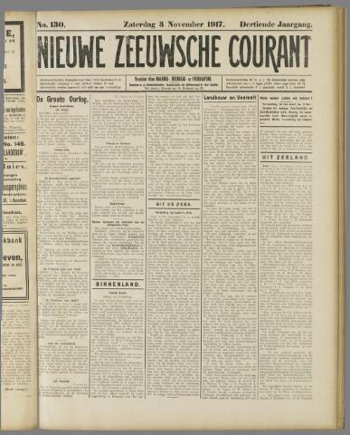 Nieuwe Zeeuwsche Courant 1917-11-03