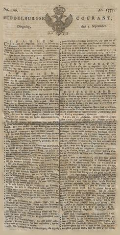 Middelburgsche Courant 1775-09-05