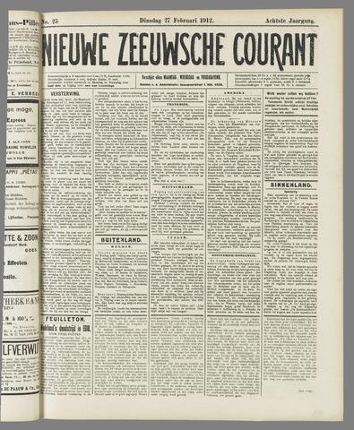 Nieuwe Zeeuwsche Courant 1912-02-27