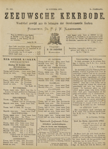 Zeeuwsche kerkbode, weekblad gewijd aan de belangen der gereformeerde kerken/ Zeeuwsch kerkblad 1891-10-24