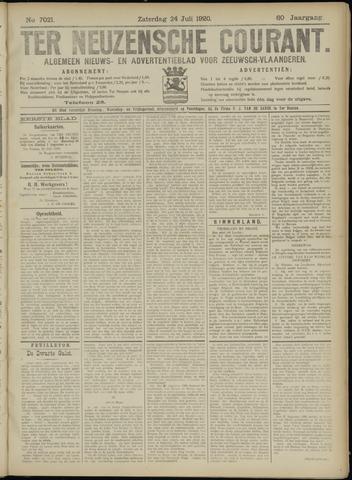 Ter Neuzensche Courant. Algemeen Nieuws- en Advertentieblad voor Zeeuwsch-Vlaanderen / Neuzensche Courant ... (idem) / (Algemeen) nieuws en advertentieblad voor Zeeuwsch-Vlaanderen 1920-07-24