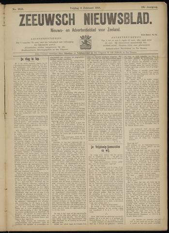 Ter Neuzensch Volksblad. Vrijzinnig nieuws- en advertentieblad voor Zeeuwsch- Vlaanderen / Zeeuwsch Nieuwsblad. Nieuws- en advertentieblad voor Zeeland 1918-02-08