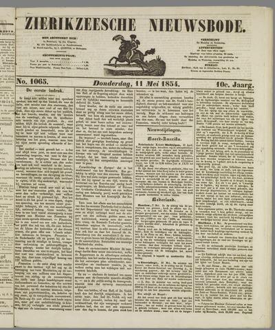 Zierikzeesche Nieuwsbode 1854-05-11