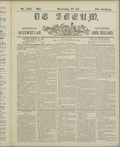 De Zeeuw. Christelijk-historisch nieuwsblad voor Zeeland 1910-07-27