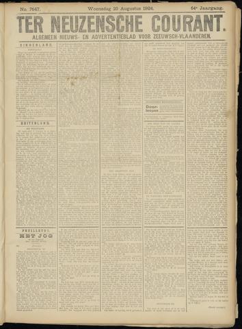 Ter Neuzensche Courant. Algemeen Nieuws- en Advertentieblad voor Zeeuwsch-Vlaanderen / Neuzensche Courant ... (idem) / (Algemeen) nieuws en advertentieblad voor Zeeuwsch-Vlaanderen 1924-08-20