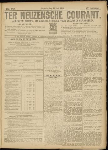 Ter Neuzensche Courant. Algemeen Nieuws- en Advertentieblad voor Zeeuwsch-Vlaanderen / Neuzensche Courant ... (idem) / (Algemeen) nieuws en advertentieblad voor Zeeuwsch-Vlaanderen 1918-07-11