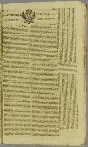 Middelburgsche Courant 1806-02-20