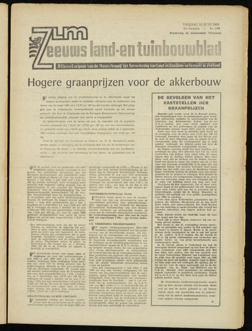 Zeeuwsch landbouwblad ... ZLM land- en tuinbouwblad 1964-06-12