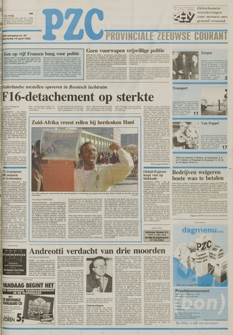 Provinciale Zeeuwse Courant 1993-04-14