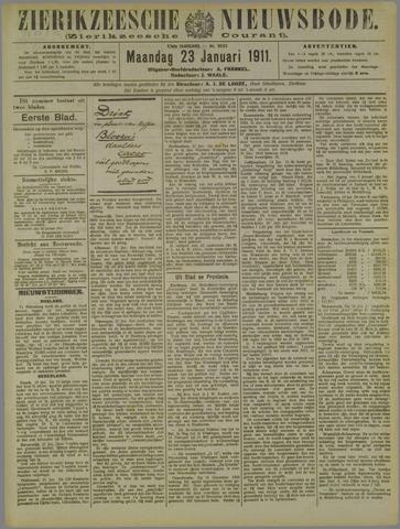 Zierikzeesche Nieuwsbode 1911-01-23