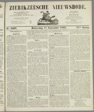 Zierikzeesche Nieuwsbode 1865-11-18