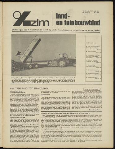 Zeeuwsch landbouwblad ... ZLM land- en tuinbouwblad 1972-02-18