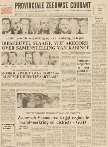 Provinciale Zeeuwse Courant 1971-07-01