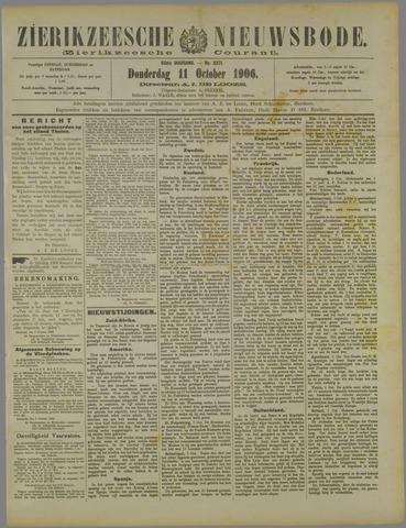 Zierikzeesche Nieuwsbode 1906-10-11