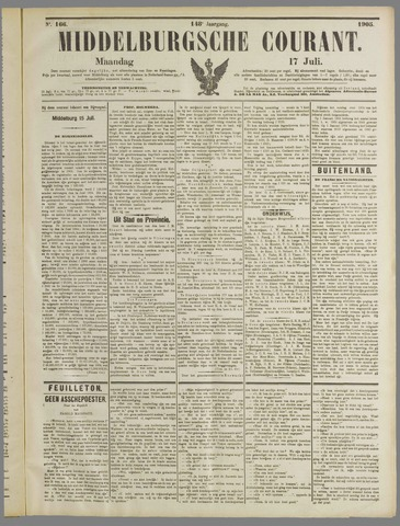Middelburgsche Courant 1905-07-17