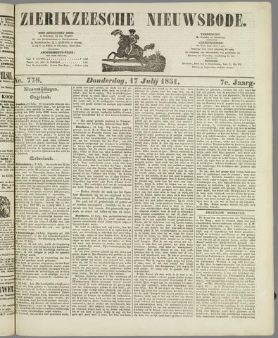 Zierikzeesche Nieuwsbode 1851-07-17