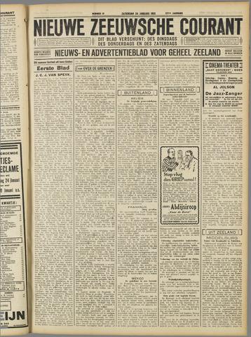 Nieuwe Zeeuwsche Courant 1931-01-24