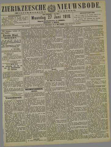 Zierikzeesche Nieuwsbode 1910-06-27