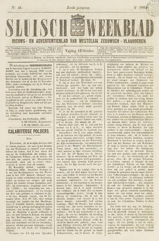 Sluisch Weekblad. Nieuws- en advertentieblad voor Westelijk Zeeuwsch-Vlaanderen 1865-10-13