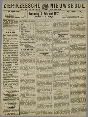 Zierikzeesche Nieuwsbode 1917-02-07