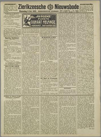 Zierikzeesche Nieuwsbode 1922-10-11