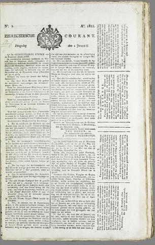 Zierikzeesche Courant 1821