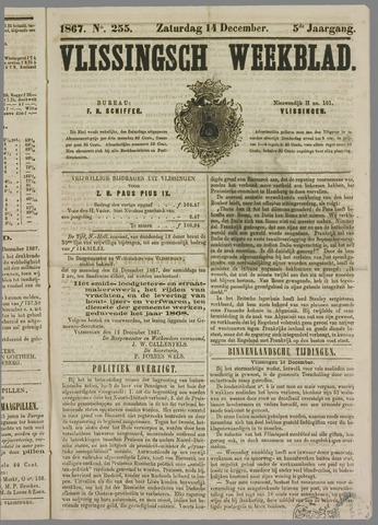 Vlissings Weekblad 1867-12-14