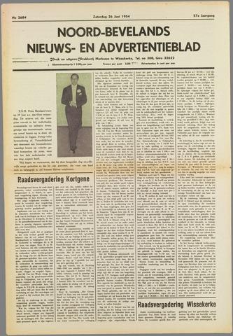 Noord-Bevelands Nieuws- en advertentieblad 1954-06-26