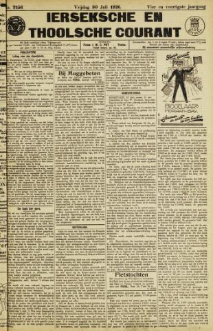 Ierseksche en Thoolsche Courant 1926-07-30