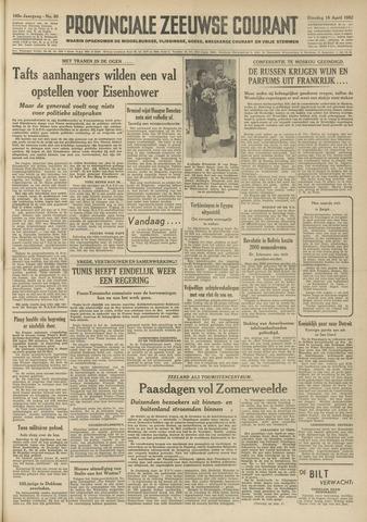 Provinciale Zeeuwse Courant 1952-04-15