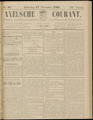 Axelsche Courant 1906-11-17