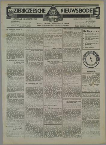 Zierikzeesche Nieuwsbode 1937-01-18