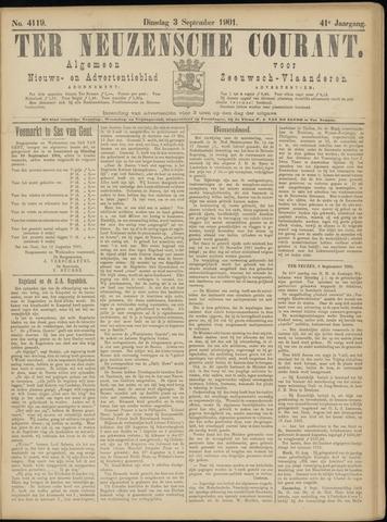 Ter Neuzensche Courant. Algemeen Nieuws- en Advertentieblad voor Zeeuwsch-Vlaanderen / Neuzensche Courant ... (idem) / (Algemeen) nieuws en advertentieblad voor Zeeuwsch-Vlaanderen 1901-09-03