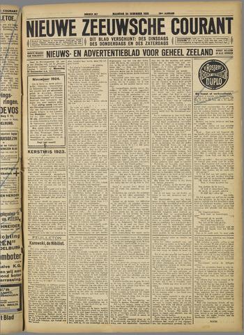 Nieuwe Zeeuwsche Courant 1923-12-24