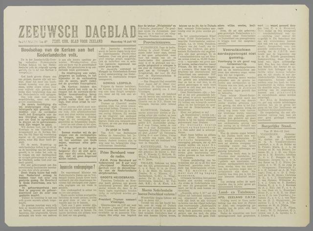 Zeeuwsch Dagblad 1945-07-16