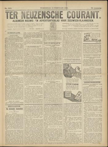 Ter Neuzensche Courant. Algemeen Nieuws- en Advertentieblad voor Zeeuwsch-Vlaanderen / Neuzensche Courant ... (idem) / (Algemeen) nieuws en advertentieblad voor Zeeuwsch-Vlaanderen 1930-02-19