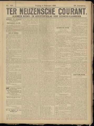 Ter Neuzensche Courant. Algemeen Nieuws- en Advertentieblad voor Zeeuwsch-Vlaanderen / Neuzensche Courant ... (idem) / (Algemeen) nieuws en advertentieblad voor Zeeuwsch-Vlaanderen 1923-02-09