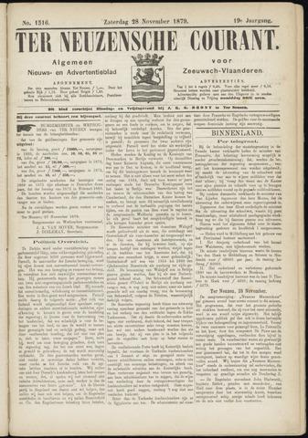 Ter Neuzensche Courant. Algemeen Nieuws- en Advertentieblad voor Zeeuwsch-Vlaanderen / Neuzensche Courant ... (idem) / (Algemeen) nieuws en advertentieblad voor Zeeuwsch-Vlaanderen 1879-11-29