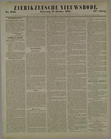 Zierikzeesche Nieuwsbode 1885-10-31